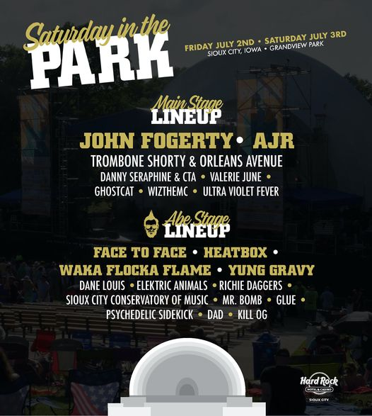 Saturday in the Park 2021 Lineup